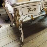 Escrivaninha Luis XV Regência  branca 02