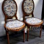 par de cadeiras decorativas