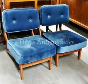 poltrona design anos 50 azul